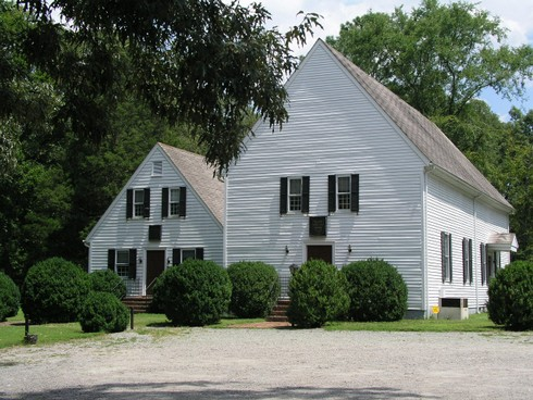Slash Christian Church built 1729 with smaller side building built 1955 © DAJones
