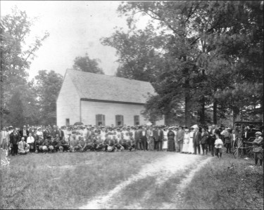 1890's photo of Slash Church, Peakes, VA - Hanover County